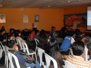 Los asistentes al evento